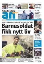 Avisa Nordland forside - barnesoldat