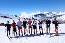 Team Veidekke Nord-Norge på samling ved Setermoen i Bardu i Troms. Foto: Team Veidekke Nord-Norge.