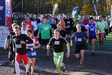 Fra Ivar Formos Minneløp, med Joar Thele fremst til høyre med startnummer 163. Arrangørfoto.