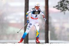 Maria Rydqvist underveis i verdenscupen i Lahti 2014. Foto: Laiho/NordicFocus.