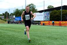 Joar Thele vant i helgen Bygdøymila. Bildet viser da han tok seg gjennom Nordmarka Skogsmaraton i sommer og vant hele løpet med god margin. Foto: Arne Martin Torgersen.