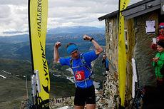 Øyvind Heiberg Sundby fra da han vant motbakkeløpet Viking Challenge 2014. Foto: Endre Løvaas / Viking Fottøy.
