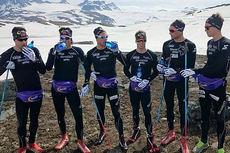 Team United Bakeries var beste lag i langløpscupen foregående sesong, og kommer derfor til å starte sist når lagtempoen i Livigno innleder en ny sesong av Swix Ski Classics. Her er laget samlet foran Toppidrettsveka 2014. Foto: Team United Bakeries.