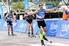 Øystein Pølsa Pettersen best på 15 km fristil under Toppidrettsveka 2014 i Kristiansund. Foto: Geir Nilsen/Langrenn.com.