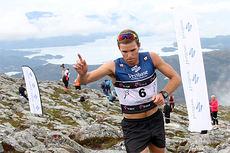 Didrik Tønseth var suveren i det 5,3 km lange motbakkeløpet Fonna Opp på dag 2 av Toppidrettsveka 2014. Foto: Geir Nilsen/Langrenn.com.
