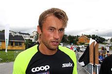 Petter Northug etter å ha vunnet sprinten i Aure under Toppidrettsveka 2014. Foto: Geir Nilsen/Langrenn.com.