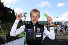Jan Thomas Jenssen fortsetter på vinnersporet og gikk til topps i juniorklassen i Orkdal og Knyken skisenter på skiatlon-øvelsen under Toppidrettsveka 2014. Foto: Geir Nilsen/Langrenn.com.