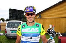 John Kristian Dahl på Toppidrettsveka 2014 etter sprintfinalen i Aure i Møre og Romsdal. Foto: Geir Nilsen/Langrenn.com.