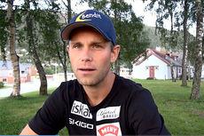 Henrik H. Kvissel i videointervju med Langrenn.com. Videofoto: Gjermund Midtbø/Langrenn.com-LangrennsTV.
