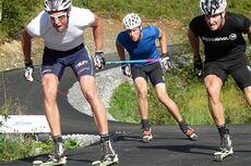 Fra rennet som innviet den nye rulleskibanen på Vålådalen, der Teodor Peterson stakk av med seieren foran Carl Quicklund og Simon Persson. Foto: Vålådalens Fjällstation.