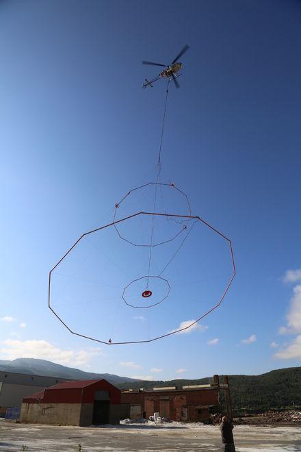 Malmleting Sulitjelma helikopter