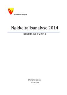 Forside fra Nøkkeltallsanalyse 2014 -Sør-Varanger kommune - Tall fra Kostra 2013