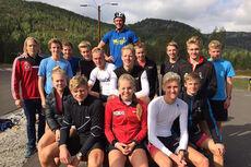 Utøvere fra Team Hallingdal og Grenland ski. Foto: Team Hallingdal.