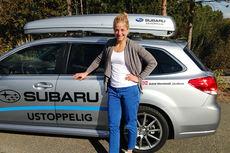 Astrid Uhrenholdt Jacobsen har blitt enige med Subaru Norge om å forlenge samarbeidet til og med 2015. Foto: Subaru Norge.