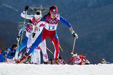 Eva Vrabcova Nyvltova underveis på 30 km under OL i Sotsji 2014, der den tsjekkiske jenta tok en sterk femteplass. Foto: NordicFocus.