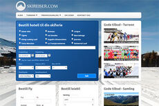 Skjermbilde av Skireiser.com.