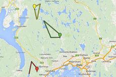 Tolvern, Sørkedalsrennet og Vestmarkrunden plassert i kart fra Googlemaps.com. Grafikk: Langrenn.com.