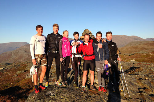 Team Veidekke Nord-Norge på samling i Nordreisa sommeren 2014. Foto: Privat.