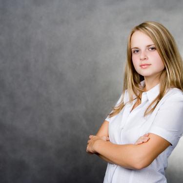 Illustrasjonsfoto ung jente