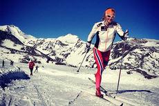 Tuva Toftdahl Staver ligger denne uka i Val Senales sammen med skilandslaget. Foto: Mathias Rundgreen.