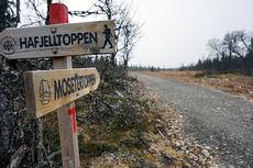 Mosetertoppen investerer i ny trasé fra fra stadion og opp til Lie-Hornsjøvegen. Foto: Mosetertoppen.