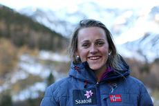 Barbro Kvåle på samling med skilandslaget i Val Senales høsten 2014. Foto: Birk Eirik Fjeld.