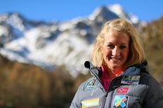 Kathrine Harsem på skilandslagets samling i Val Senales høsten 2014. Foto: Birk Eirik Fjeld.