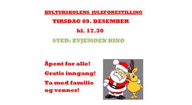 Plakat for kulturskolens juleforestilling 2014