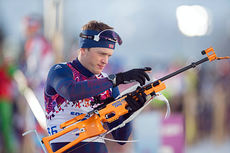 Tarjei Bø i aksjon under OL i Sotsji 2014. Foto: NordicFocus.