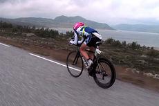 Isklar Norseman Xtreme Triathlon 2014. Bildeutsnitt fra film på YouTube.