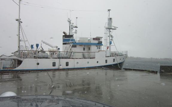 Båten Strønstad ved kai i Alsvåg