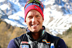 Chris Jespersen på samling med skilandslaget i Val Senales høsten 2014. Foto: Birk Eirik Fjeld.