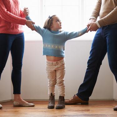 Illustrasjonsfoto barn, foreldre som krangler, omsorgsrett