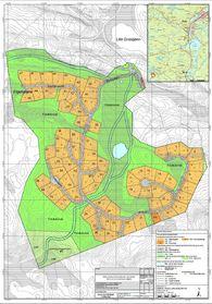 Plankart av Elgholan hyttefelt