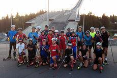 Utøverne i Team Follo på treningsøkt i Holmenkollen. Foto: Team Follo.