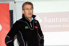 Olav Hasund er leder for Santander Consumer Bank som har gått inn som navnesponsor for Team Santander. Foto: Erik Borg.