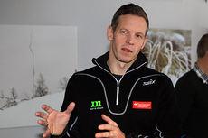 Nils Marius Otterstad stiller seg uforstående til utspillet fra Centric. Her er han avbildet under pressekonferansen til Team Santander på Beitostølen. Foto: Erik Borg.
