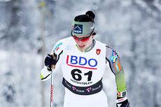 Marit Bjørgen på vei opp danskebakken under Beitosprintens 10 km klassisk 2014. I mål ble det en 2. plass. Foto: Geir Nilsen/Langrenn.com.