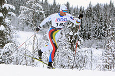 Petter Northug jr. på vei mot tredjeplass på 15 km klassisk under Beitosprinten 2014. Foto: Erik Borg.