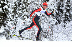 Anders Aukland gikk seg inn til en sterk 7.-plass på 15 km klassisk under Beitosprinten 2014. Foto: Erik Borg.