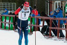 Sergey Ustiugov inn til seier på sprinten i Gällivarepremiären. Foto: Yngve Johansson/Imega Promotion.