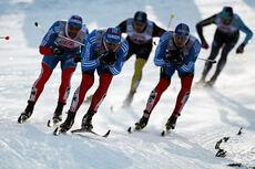 Alexey Petukhov, Nikita Kriukov og Gleb Retivykh i aksjon under verdenscupsprinten i Kuusamo i slutten av november 2012. Lørdag møttes de til dyst i Finland. Foto: Laiho/NordicFocus.