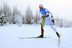 Petter Northug jr. ute på 15 km fri under Beitosprinten 2014. Det endte med 23.-plass. Foto: Erik Borg.