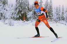 Lars Berger på vei mot sjuendeplass i 15 km fri på Beitosprinten 2014. Foto: Erik Borg.