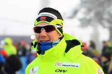 Kristian Tettli Rennemo etter 15 km fri på Beitosprinten 2014, der han endte på fjerdeplass. Foto: Erik Borg.