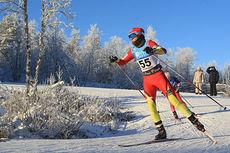 Heidi Weng ble nummer tre på 10 km fri i Beitosprinten 2014. Foto: Erik Borg.