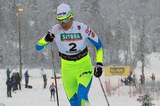 Katja Visnar på vei mot beste prologtiden under Beitosprinten 2014 sin klassiske sprint. Foto: Erik Borg.