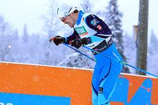 Sondre Turvoll Fossli knallet til med klart beste tid under sprintprologen under Beitosprinten 2014. Foto: Erik Borg.