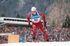 Vetle Sjåstad Christiansen under verdenscupen i Ruhpolding tidlig i januar 2014. Foto: Manzoni/NordicFocus.