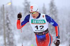 Emil Nyeng ble til slutt nummer sju i den klassiske sprinten under Beitosprinten 2014. Her er han underveis i prologen. Foto: Erik Borg.